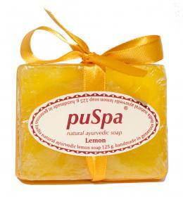 Натуральное аюрведическое мыло Лимон